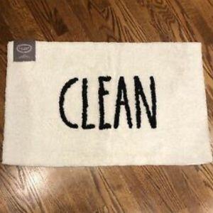 """Rae Dunn Bath Mat """"CLEAN"""""""